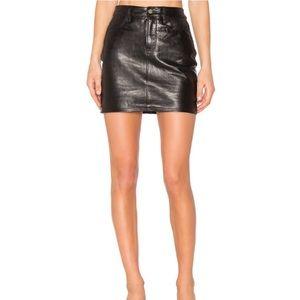 Frame Denim Mini Skirt in Jet Black 30 NEW